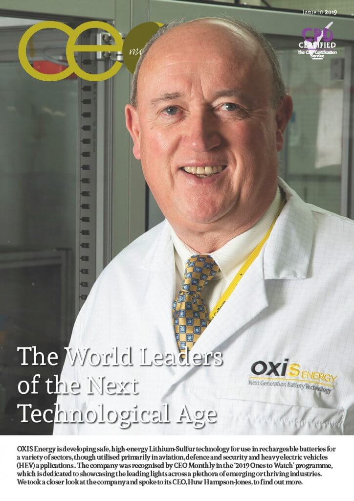 CEO Monthly Issue 10 2019 exclusive cover