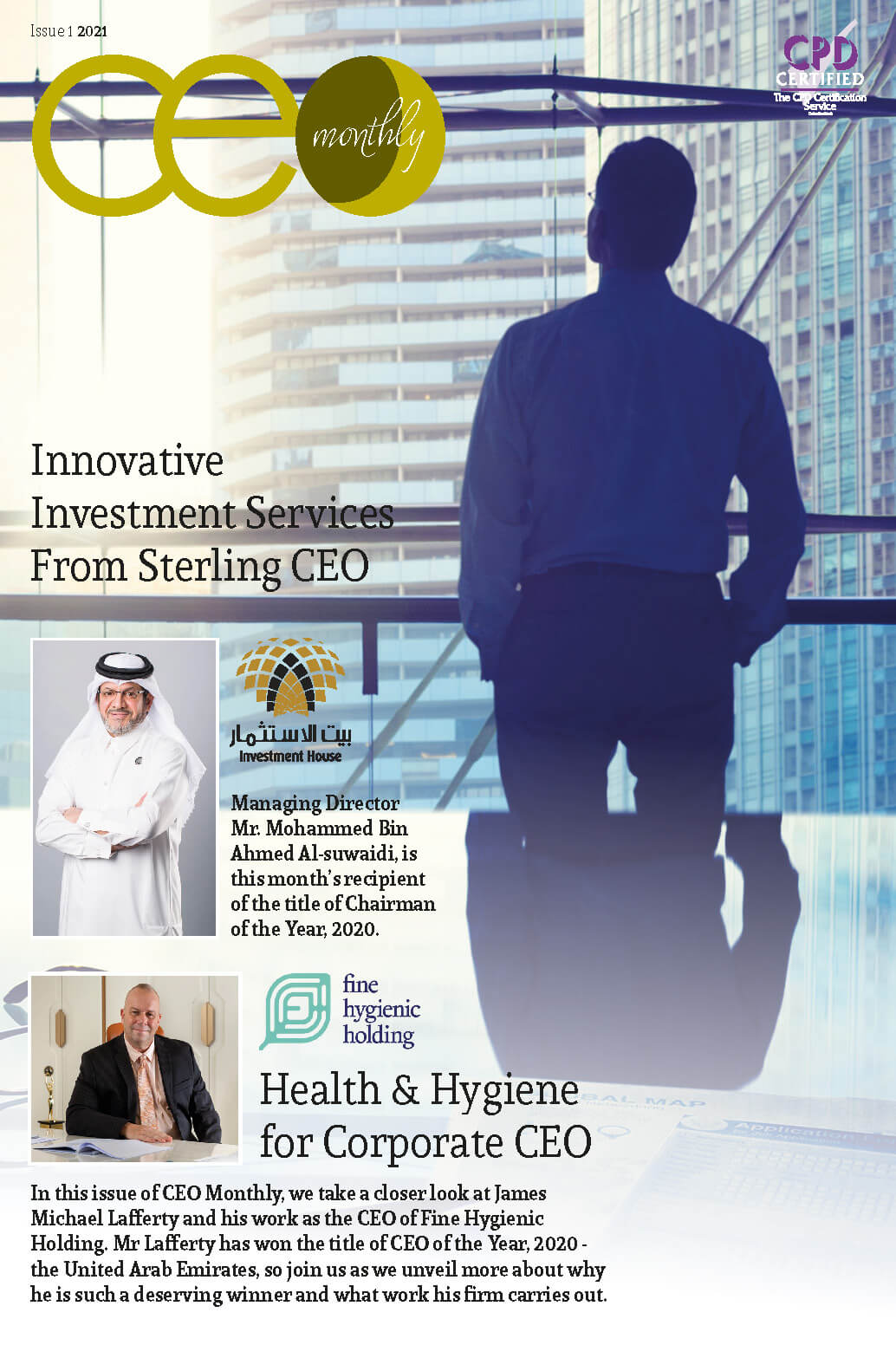 CEO Monthly Issue 1 2021 cover